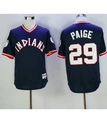 mlb cleveland indians #29 satchel paige flexbase baseball jersey size m-3xl