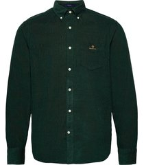 d2. corduroy reg bd overhemd casual groen gant