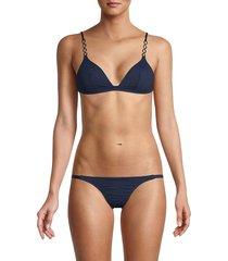 melissa odabash women's mexico 2-piece bikini set - white - size 44 (8)