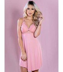 camisola amamentação curta yasmin lingerie feminina - feminino