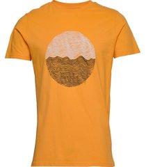 alder wave tee - gots/vegan t-shirts short-sleeved orange knowledge cotton apparel