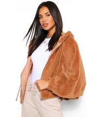 faux fur oversized teddy bomberjack, camel