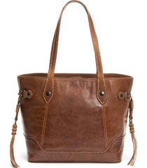 frye melissa carryall leather tote - brown