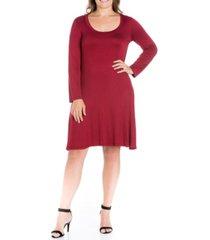 women's plus size flared dress