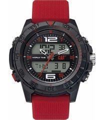 reloj rojo cat base camp digital