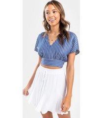 emelle swiss dot mini skirt - white
