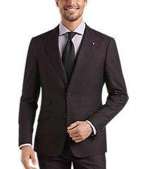 suitor dark wine slim fit suit
