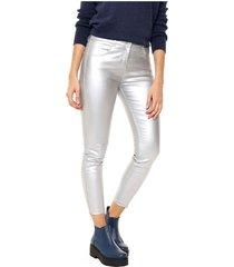 pantalón plateado asterisco gea