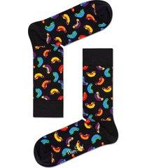 men's happy socks hot dog socks, size one size - black