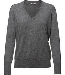 merino v-neck sweater gebreide trui grijs filippa k