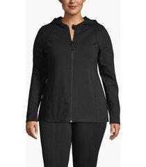 lane bryant women's active hooded jacket 14/16 black
