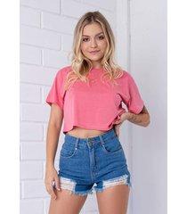 t-shirt cropped pkd rosa
