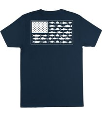 columbia men's americana saltwater fish flag short sleeve t-shirt