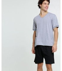 pijama mr manga curta masculino