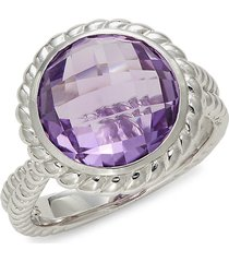 effy women's amethyst & sterling silver cocktail ring - size 7