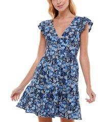 b darlin juniors' ruffled flounce dress
