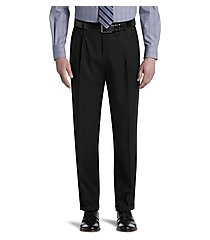 traveler collection traditional fit pleated washable wool dress pants by jos. a. bank