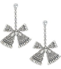 jean crystal bow earrings