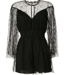 alice mccall magicians daughter embroidered playsuit - black