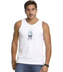 camiseta vlcs regata gola redonda branca - branco - masculino - algodã£o - dafiti