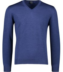 olymp pullover wol donkerblauw v-hals