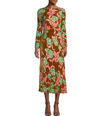 tina velvet scoop-back dress