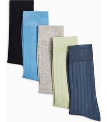 mens multi collegiate ribbed 5 pack socks