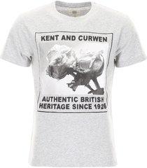 kent & curwen logo and roses t-shirt