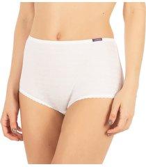 calcinha algodão cintura alta branco - 488.023 marcyn lingerie alta branco