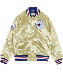 nba championship game satin jacket phi76e bomber jacket