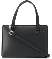loewe bolsa tote 'postal box' pequena - preto