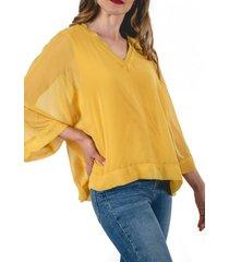 blusa canario amarillo guinda