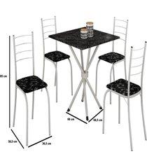 mesa com 4 cadeiras para cozinha ipanema teixeira branca - branco - dafiti