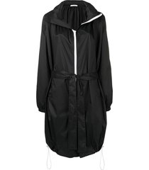 givenchy mid-length belted raincoat - black