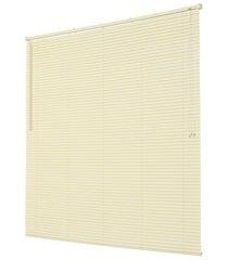 persiana horizontal em pvc off 130x160cm bege