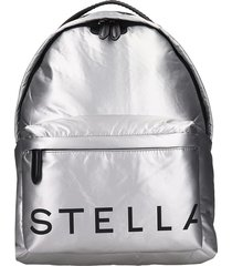 stella mccartney backpack in silver tech/synthetic