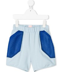 wauw capow by bangbang inside out mesh panel shorts - blue