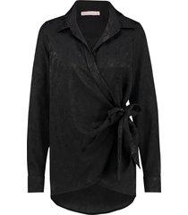 studio anneloes babette jacquard blouse 03987 zwart