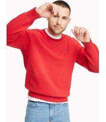 tommy hilfiger men's essential crewneck sweater apple red - s