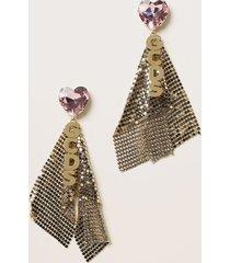 gcds jewel maxi gcds earrings with metal mesh