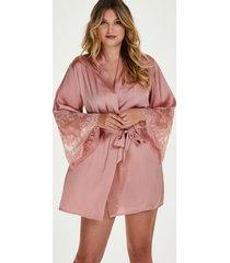 hunkemöller kimono satin rosa
