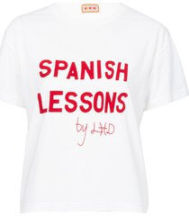 white spanish lessons tee