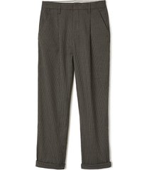 brixton victory high waist wide leg ankle pants, size 25 in black/grey at nordstrom