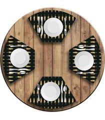 jogo americano   para mesa redonda wevans minimalista pinheiros  love decor - multicolorido - dafiti