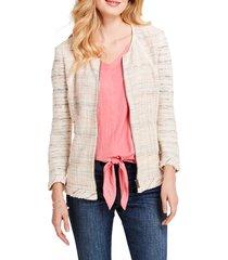 women's nic+zoe dandelion tweed jacket, size xx-large - orange