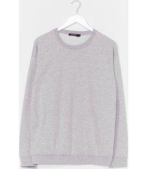 womens the simple things oversized sweatshirt - grey