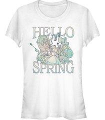fifth sun juniors alice in wonderland spring garden alice short sleeve t-shirt