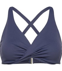 seafolly wrap front f cup bra bikinitop blauw seafolly
