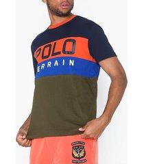 polo ralph lauren short sleeve t-shirt t-shirts & linnen navy/multi