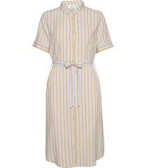 charlotte print dress knälång klänning creme modström